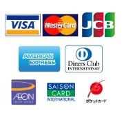 ご利用可能クレジットカード会社